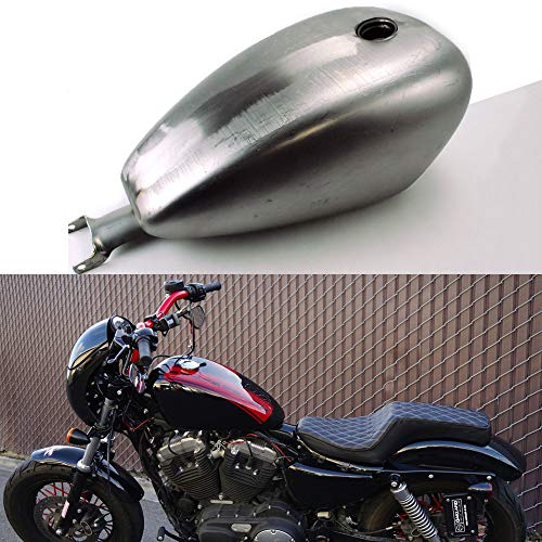 TTX-LIGHTING Motorcycle Custom 3.3 Gallon EFI Gas Fuel Tank Steel For 2007-2019 Harley Davidson Sportster 1200 XL 883