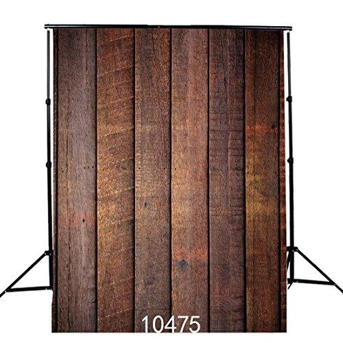 SJOLOON Vintage Wood Plank 5x7ft Vinyl Photography Background Backdrops Photo Studio Props 10475