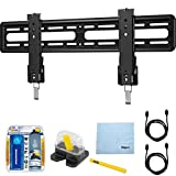 Sanus 51''-70'' Premium Series Fixed Flat Panel Mount/10-95 (VLL5) with TV/LCD Screen Cleaning Kit, Magnetic Stud Finder, Carpenter Pencil, Microfiber Cleaning Cloth & 2x HDMI to HDMI Cable 6'