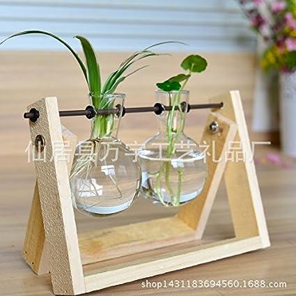 ZHFC-El florero de vidrio florero de cristal pequeño contenedor de hidroponicos casa decoracion floral