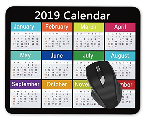 ABin 2019 Calendar Mouse pad Gaming Mouse pad Mousepad Nonslip Rubber Backing (Best Mousepad For Gaming 2019)