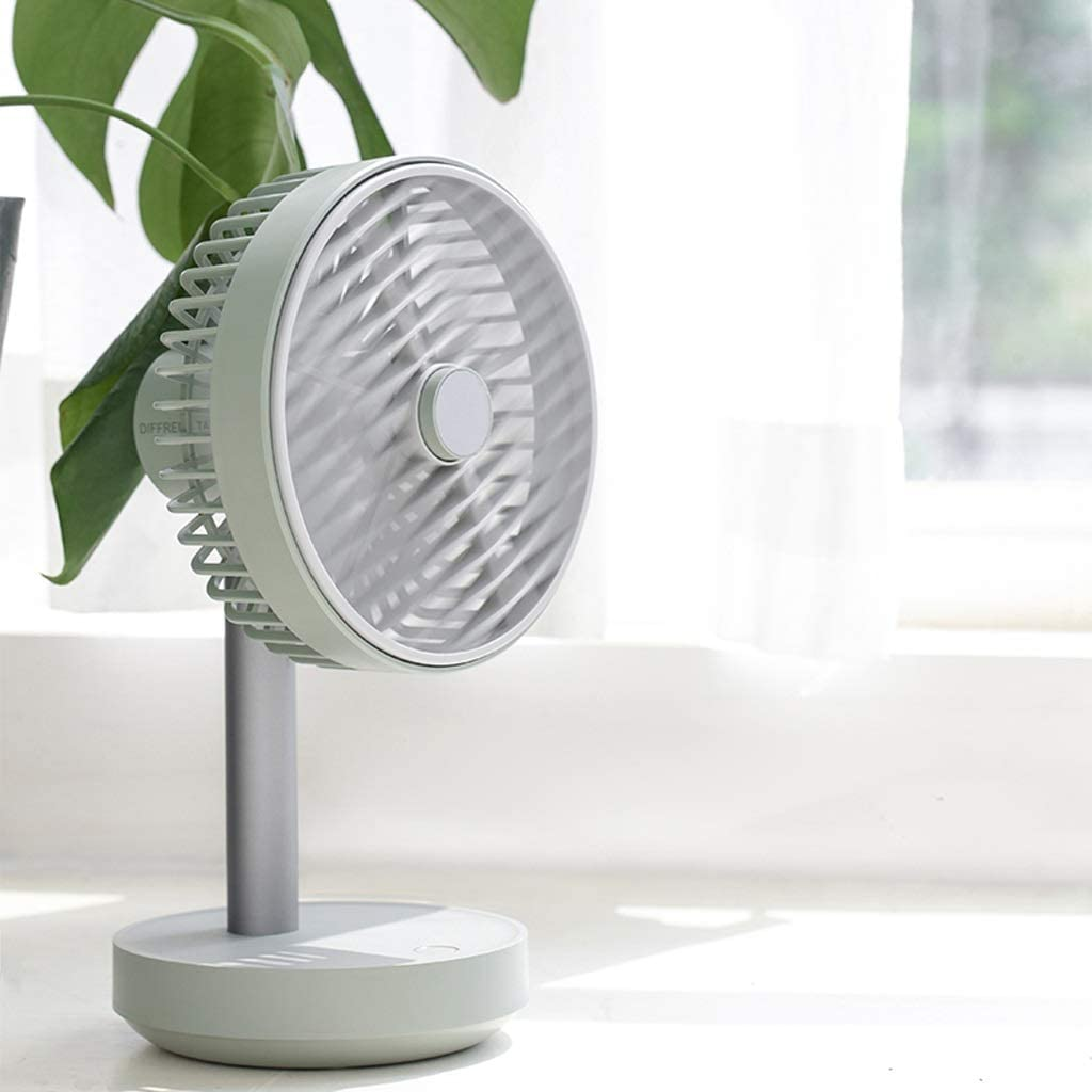 USB Powered Desk Fan Mini Silent Fan Portable Cooling Fan for Bedroom Laptop Table Camping Outdoors Home Office,4 Speeds Color : Green