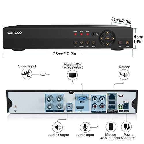 Sansco Smart Cctv Security Camera System 4 Channel 1080n