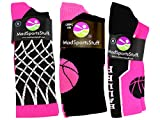 MadSportsStuff Basketball Socks with Basketball