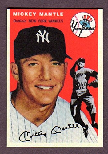 Mickey Mantle 1954 Topps Design Custom Card - The Baltimore Hours Gallery