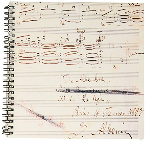 (3dRose db_83070_1 Isaac Albeniz, Spanish Composer, Music Manuscript HI13 PRI0123 Prisma Drawing Book, 8 by)