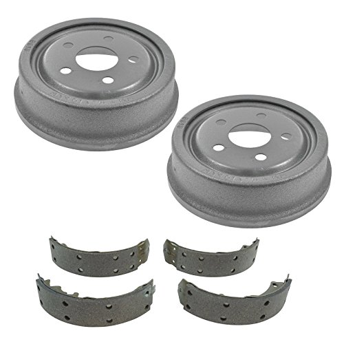 Drum Chevy Brake (Rear Brake Drums & Shoes Kit Set for Buick Chevy Oldsmobile Pontiac)