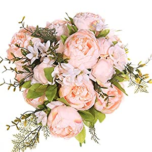GSD2FF 13 Branches Peony Flowers Artificial Flower Vintage Wedding Silk Artificial Flowers for Home Festival Decoration 54