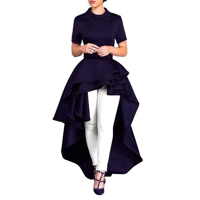 Vestidos de cóctel,Morwind vestido forma bustier asimétrico vestido de fiesta cuello redondo vestido de
