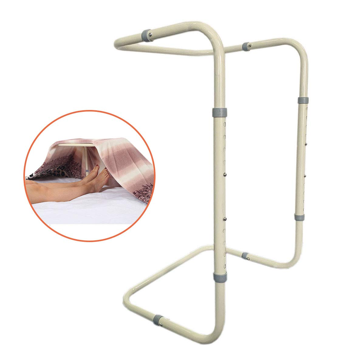 Blanket Support Lifter Adjustable Bed Cradle for Foot Sheet Riser Lift Bar of Tent Blankets Holder Rail Medical Hospital Beds Accessories Leg Knee Feet Ankle Post Surgery Recovery Arthritis Assist