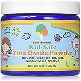 Kid-Safe Zinc Oxide Powder. Lead Free. 100% pure, non-nano, non-nicronized, uncoated, cosmetic grade powder. Great for sunscreens, acne creams, diaper creams, and more.