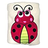 Sozo Baby-Boys Newborn Ladybug Snuggle Blanket, Tan/Red/Black, One Size