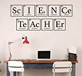 Periodic Table Wall Decor - Decal for Science Teachers - Vinyl Sticker Art Decoration for Office, School or Classroom