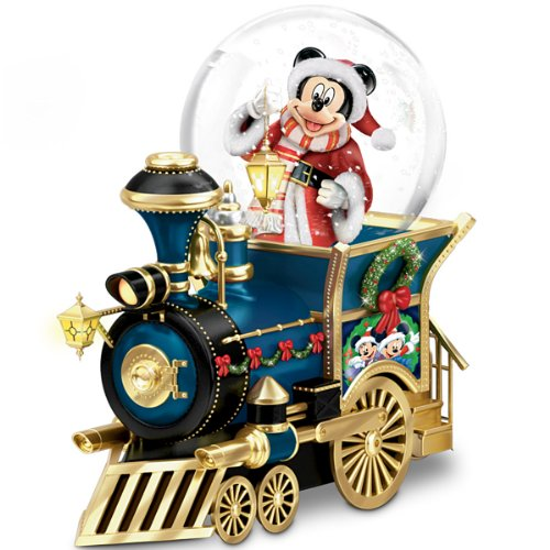 Disney Mickey Mouse Miniature Snowglobe: Santa Mouse Is Comin' To Town by The Bradford Exchange Merry Christmas Wishes For Grandson