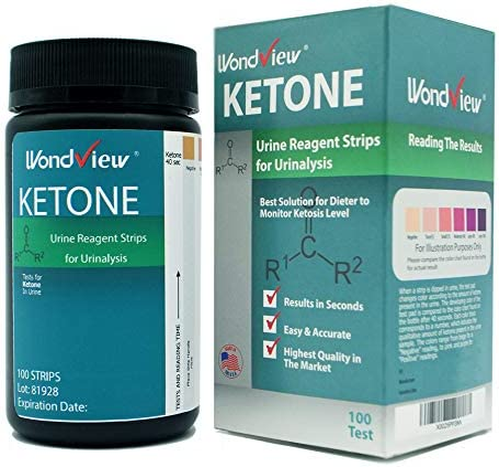 Wondview Ketone Test Strips: Testing Ketosis Based on Your Urine, 100 Ketone Urinalysis Tester Strips 1