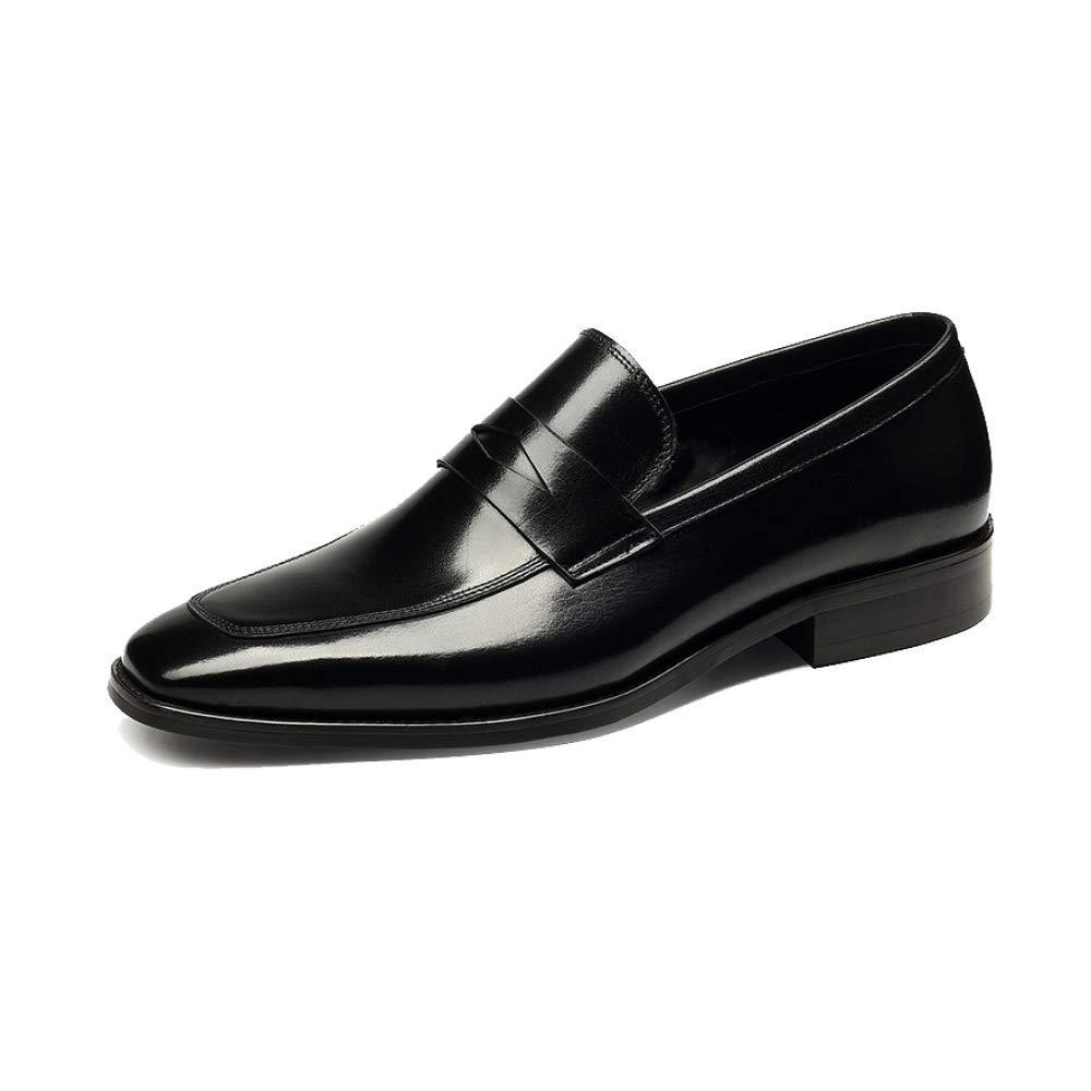 NIUMT Lederschuhe Herbst und Winter Herren Lederschuhe NIUMT Business British Style Handmade Trend Faul Schuhes schwarz d2efe1