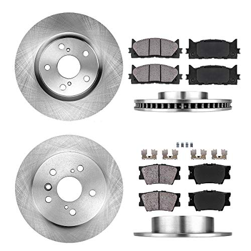 FRONT 296 mm + REAR 281 mm Premium OE 5 Lug [4] Rotors + [8] Quiet Low Dust Ceramic Brake Pads