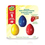 Crayola My First Crayola Palm-Grip Crayons, 3 Ct, Washable Art Tools, Easter Basket