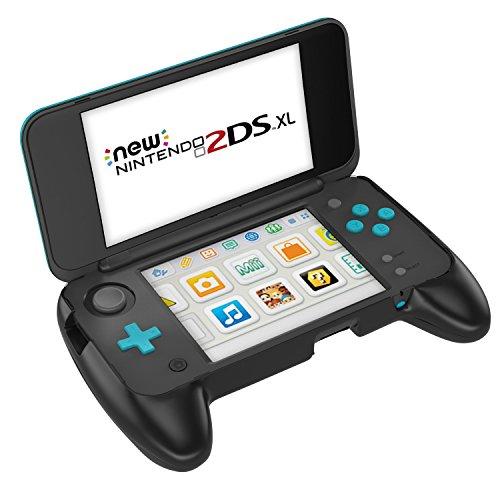 MoKo Nintendo NEW 2DS XL Handle Grip, Anti-slip Protective Grip with Stand for Nintendo New 2DS XL/LL (2017) - Black