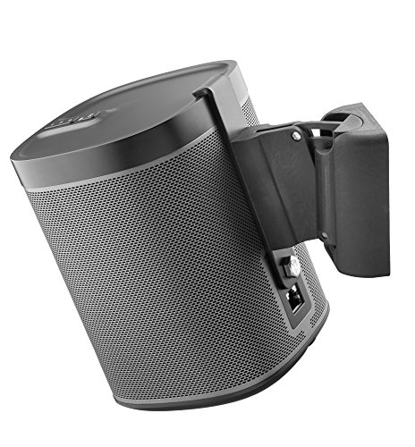 Black Wall Mount Bracket (Cavus CMP1B - Sonos Wall Mount - Wall bracket suitable for Sonos Play 1 - Black)