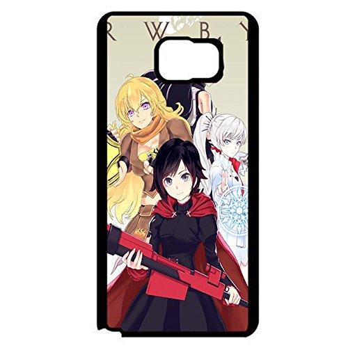 Coque Samsung Galaxy Note 5 Phone Case RWBY 4 Main Roles Elegant Anime Cover,Cas De Téléphone