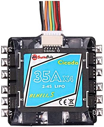 Quickbuying Sunrise Cicada 35Ax4 35A Beheli/_S BB2 2-4S 4 in 1 ESC Support Oneshot42 Multishot For RC Multicopter