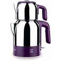 Korkmaz Demkolik Elektrikli Çelik Çaydanlık Çaycı Çay Makinesi