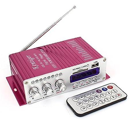 DC 12V 40W Auto Car Audio Amplificador Roja: Amazon.es ...