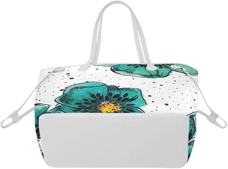 Shoulders Bag Colorful Beautiful Flower Poppy Field Travel Handbag Woman Handbag Large Capacity Water Resistant with Durable Handle