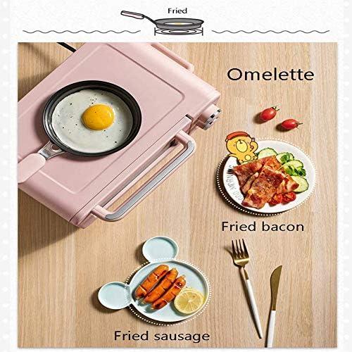 AFF Multifonction 3 en 1 Machine à Petit-déjeuner 8L Électrique Mini Four Cafetière Oeufs poêle à Frire Pain Domestique Pizza Four Grill