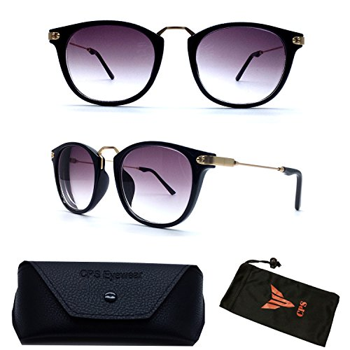 (#9588 Blk) Unique Retro Nearsighted Near sighted Short Sighted Myopia Black Sunglasses Tinted UV Protection Glasses (Strength: - Student Sunglasses Discount