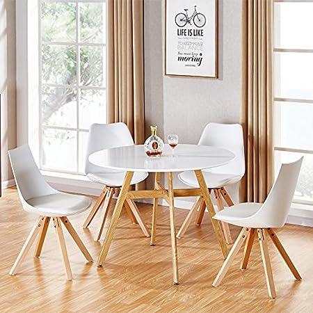 Mesa de comedor redonda escandinava de madera 80 cm – Umbria ...