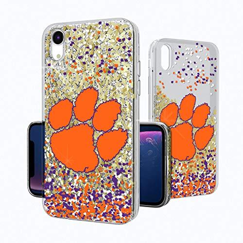 - Keyscaper KGLGXR-00CL-FETTI1 Clemson Tigers iPhone XR Glitter Case with CU Confetti Design