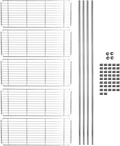 AmazonBasics 5-Shelf Shelving Unit - Chrome by AmazonBasics (Image #7)