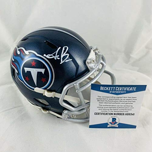 Aj Brown Signed Tennessee Titans Speed Mini Helmet Authentic Bas Coa #h99341 - Beckett Authentication ()