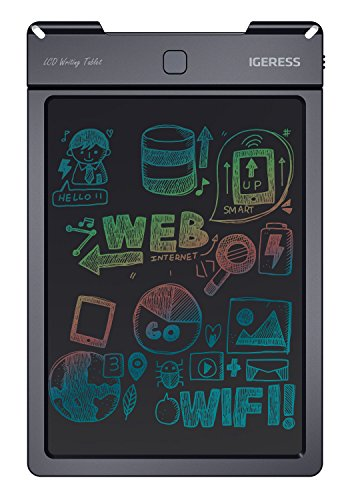 IGERESS 9 Inch Colorful Display LCD Writing Tablet Kids Writing and Drawing Electronic Writing Board for Instead of Paper