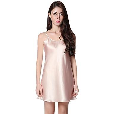a5bedded5421 SweetDream Women s Pajamas Sleeveless Jumper Skirt Cotton Silk Strap  Sleepwear Night Dress Skirt Lingerie Set Ladies