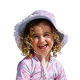 Sun Emporium Girls Sky Blue Pink Reversible Brim Frills Hat XS