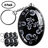 Personal Alarm,6 Pack 120 dB Personal Alarm Keychain Emergency Safety Self Defense Keyring Batteries Included Black Review