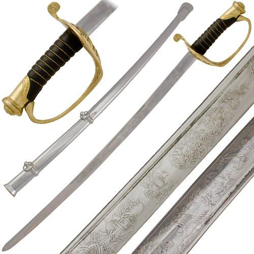 War Sword (USA Civil War Saber Engraved Cavalry Sword)
