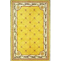 KAS Oriental Rugs Jewel Collection Fleur-De-Lis Area Rug, 53 x 83, Gold