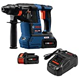 Bosch GBH18V-26K24-RT 6.3 Ah Cordless Lithium-Ion Brushless 1 in. SDS-Plus Bulldog Rotary Hammer Kit (Renewed)