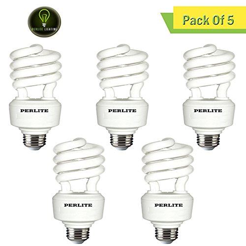 Tube Energy Wiser Compact - Perlite Lighting (Pack of 5) CF32T4/WW 32-Watt T4 COIL CFL Energy Wiser 2700k Medium E26 Base 120-Volt Light Bulb