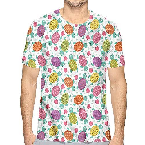 t Shirt for Men Aquarium,Shells Oysters and Pearl Custom t Shirt L -