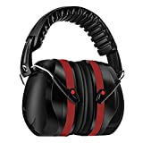 Homitt Sound Ear Muffs Hearing Protection Ear Defenders with Noise Cancelling Technology for Shooting, Hunting, Working or Construction – Red and Black