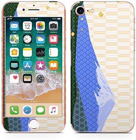 igsticker iPhone SE 2020 iPhone8 iPhone7 専用 スキンシール 全面スキンシール フル 背面 側面 正面 液晶 ステッカー 保護シール 005953 クール 和風 和柄 富士山