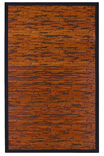 - Anji Mountain Eco Friendly Digs Cobblestone Mahogany Bamboo Rug (7'x10')