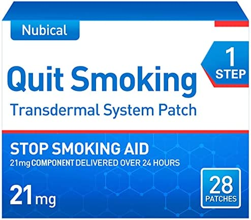 Stop Smoking Aid Patches Step 1 to Quit Smoking,21mg Quit Smoking Aid That Work,Anti-Smoking Patch,28 Patches, 4-Week Kit