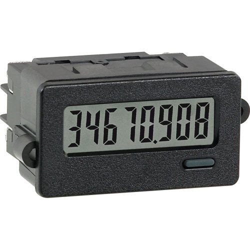 (Red Lion CUB7C Low Voltage Miniature Electronic Counter Digital Panel Meter with Reflective Backlight, 8 Digit LCD Display, 28 VDC Input Max)