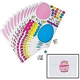 12 Make an EASTER EGG Sticker SHEETS/Basket Filler/COLORFUL Craft ACTIVITY/Dozen STICKERS